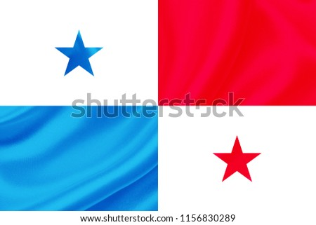 panama fabric flag waving,3D Illustration #1156830289
