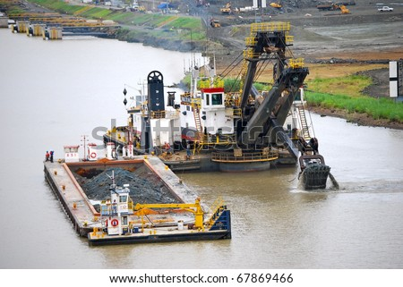 PANAMA - OCTOBER 6. It was announced in July 2009 that contracts have  been awarded to build six new locks on the Panama Canal. Construction work is proceeding apace. October 6, 2010, Panama