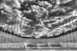 Panathenaic stadium or kallimarmaro in Athens (hosted the first modern Olympic Games in 1896)