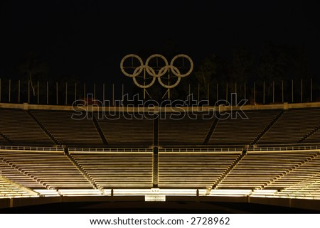 "Panathenean or ""Kalimarmaro"" (beautiful marble) stadium in Athens - Greece. The first stadium to host the modern Olympic Games (1896)"
