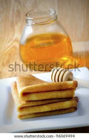 pancakes for honey