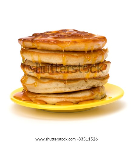 Pancakes  stack on white background