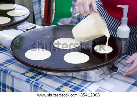 pancakes, street market in Bergen, Norway