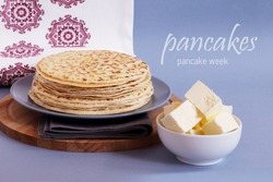 pancakes with toppings for card