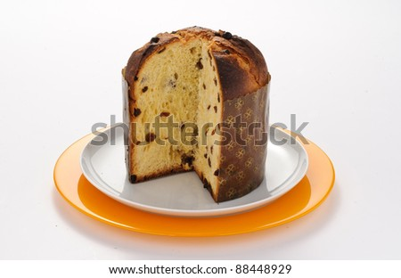 Panettone in the plate