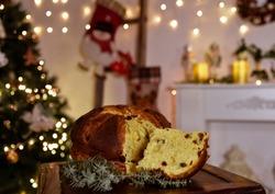 Panettone italian tipical christmas delicious