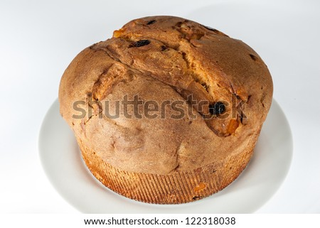 Panettone on a white dish