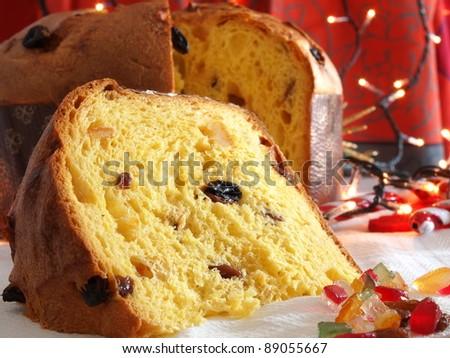 Panettone traditional Christmas sweet