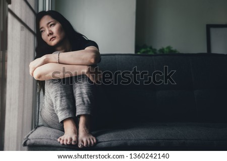 panic attacks young girl sad fear stressful depressed emotional.crying use hands cover face begging help.stop abusing domestic violence in women,person with health anxiety,people bad feeling down