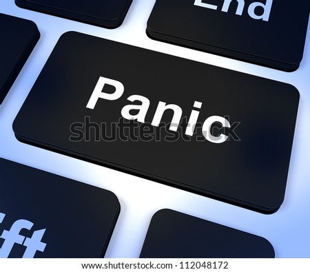 Panic Computer Key Shows Trauma Stress And Hysteria