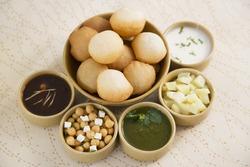 Panipuri or Gol Gappa or Chaat, Indian Dish