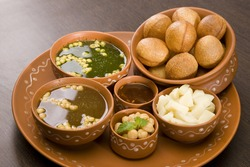 Panipuri or Gol Gappa or Chaat, Indian Street Food