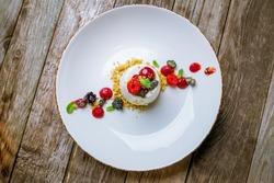 Panna cotta with fresh berries