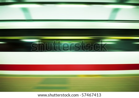 Panning on a moving fast train.