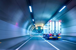 Panning shot through the tunnel for safe and fast transport