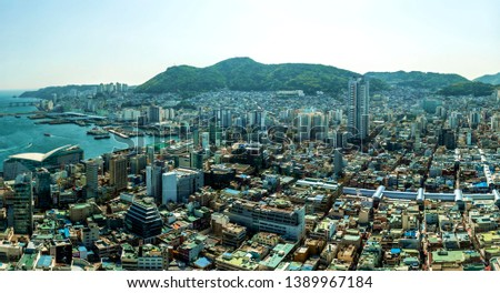 panoram view of Busan, South Korea