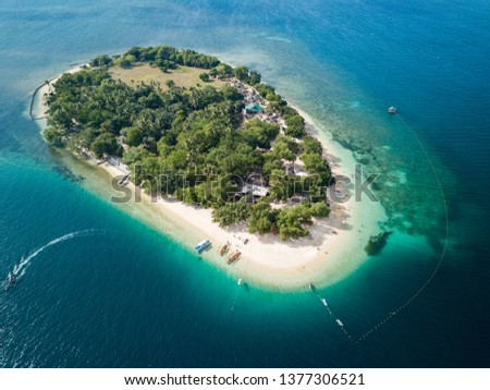 Panorama Aerial Drone picture of Potipot island in Zambales, Philippines