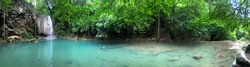 Panorama at Erawan waterfall, Kanchanaburi, Thailand