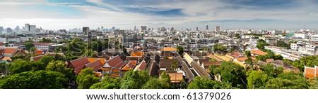 Panorama Bangkok - stock photo