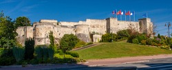 Panorama Castle in Caen in Normandie in France