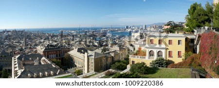 panorama City of Gene Italy  #1009220386