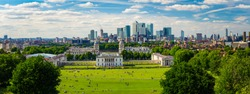 Panorama Cityscape View from Greenwich, London, England, UK.