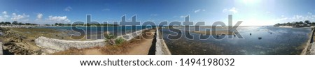 Panorama 360-degree Pantai aujung Genteng sukabumi