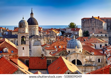 panorama dubrovnik old town...
