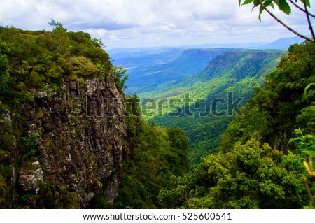 Panorama from God's Window along the Blyde River Canyon,South Africa