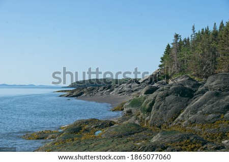 Panorama from Île-aux-Lièvres in the Rivière-du-Loup region in Bas-St-Laurent Stockfoto ©