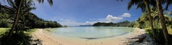 Panorama from Long Beach on Koh Chang Island Thailand