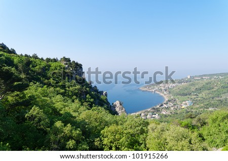 panorama from mountain at Simeiz, Eastern Europe, Ukraine, Crimea