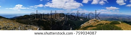 panorama from mountain top  #759034087