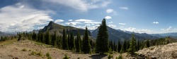 Panorama from Mt. Brown Fire Tower Lookout Summit in Glacier National Park