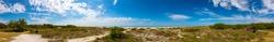 Panorama from the coastal area on Sanibel Island, Florida, USA