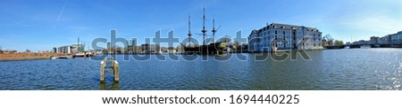Panorama from the harbor from Amsterdam in the Netherlands Stockfoto ©