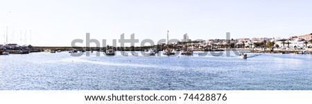 Panorama from the harbor in Lagos Portugal