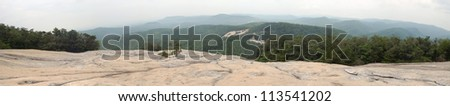 Panorama from the Summit of Stone Mountain, North Carolina - stock photo