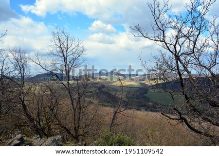 Panorama from the top of Nagy-hegy (Big mountain) in Nograd county in Hungary Stock fotó ©
