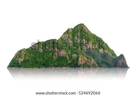 panorama island  hill  mountain ...