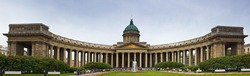 Panorama Kazan Cathedral on Nevsky Prospect in St. Petersburg, Russia