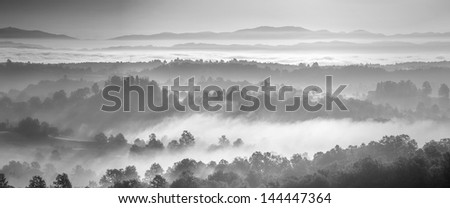 panorama landscape black and white #144447364