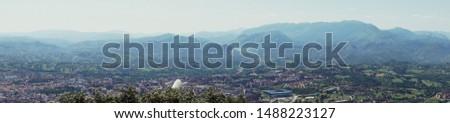 Panorama landscape of Oviedo, Asturias, Spain