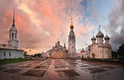 panorama landscape Orthodox Church