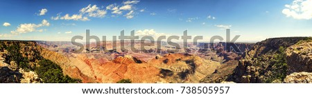 Panorama: Lipan Point - Grand Canyon, South Rim - Arizona, AZ, USA #738505957