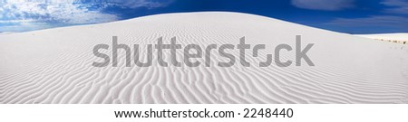 Panorama of a sand dune in the White Sands National Monument, New Mexico, USA.