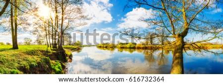 panorama of an idyllic...