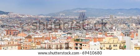 Panorama of Barcelona. Spain