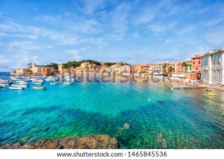 panorama of Bay of Silence, Sestri Levante, Liguria, Italy Stock photo ©