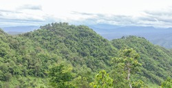 panorama of beautiful countryside of romania. sunny afternoon.